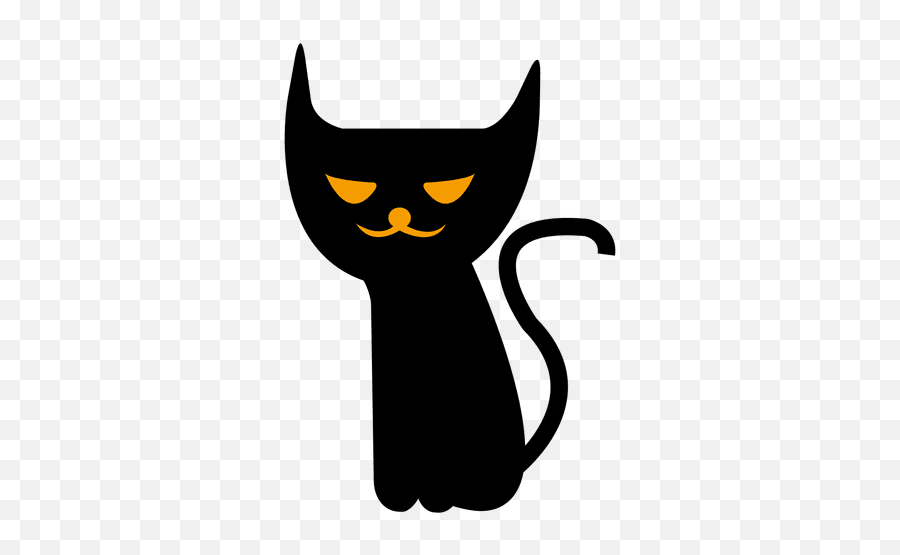 Spooky Halloween Cat 7 - Transparent Png U0026 Svg Vector File Spooky Transparent Emoji,Cat Emoticon Facebook