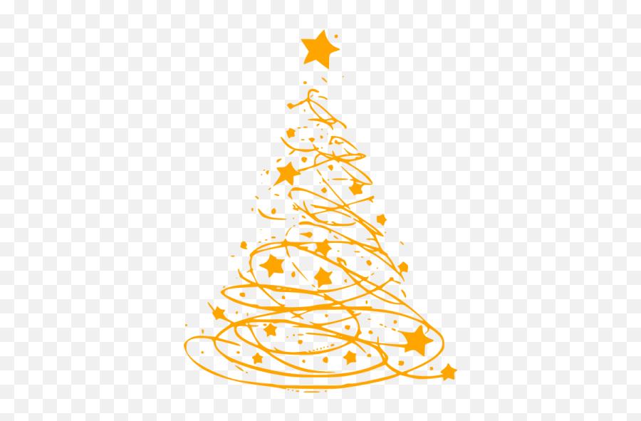 Orange Christmas 17 Icon - Christmas Tree Png Free Emoji,Christmas Tree Emoticon