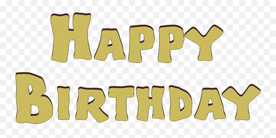 Birthday Font Happy Birthday Isolated Yellow Emoji
