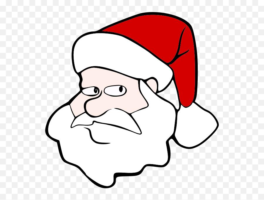 Santa - Cartoon Santa Head Png Emoji,Santa Emoticon