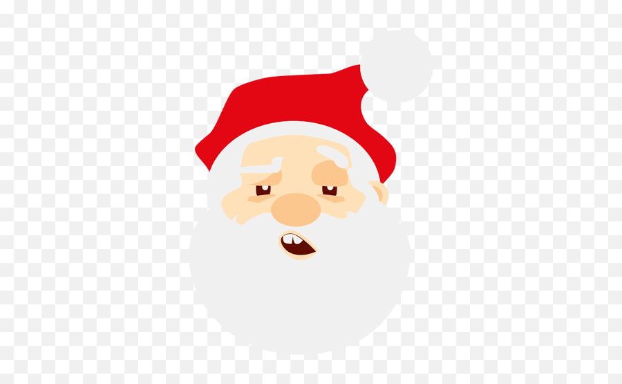 Sleepy Santa Claus Emoticon - Santa Claus Face Png Emoji,Black Santa Emoji