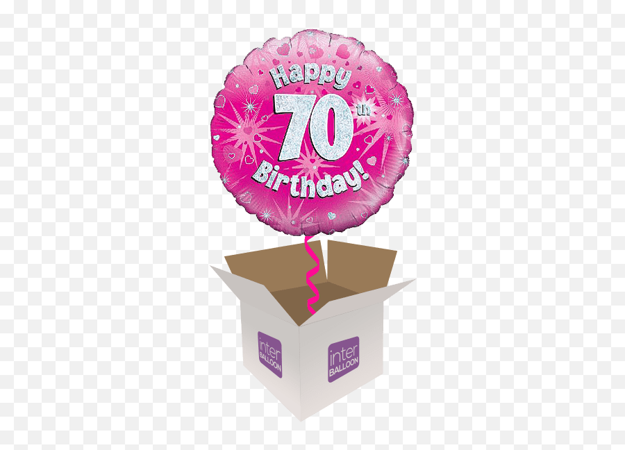 Kent Helium Balloon Delivery In A Box - Anniversary Emoji