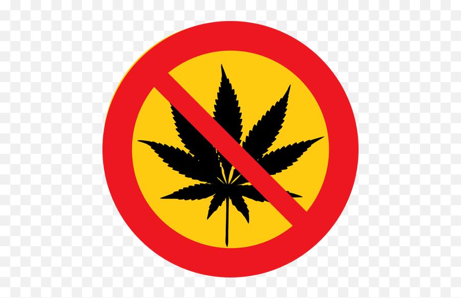 No Cannabis Vector Clip Art - Marijuana Leaf Emoji