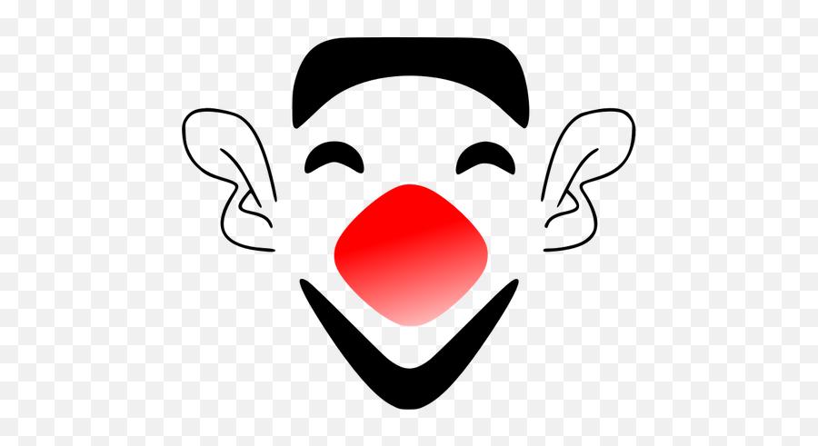 Laughing Clown Face - Funny Transparent Clown Face Emoji,Laughing Emoji
