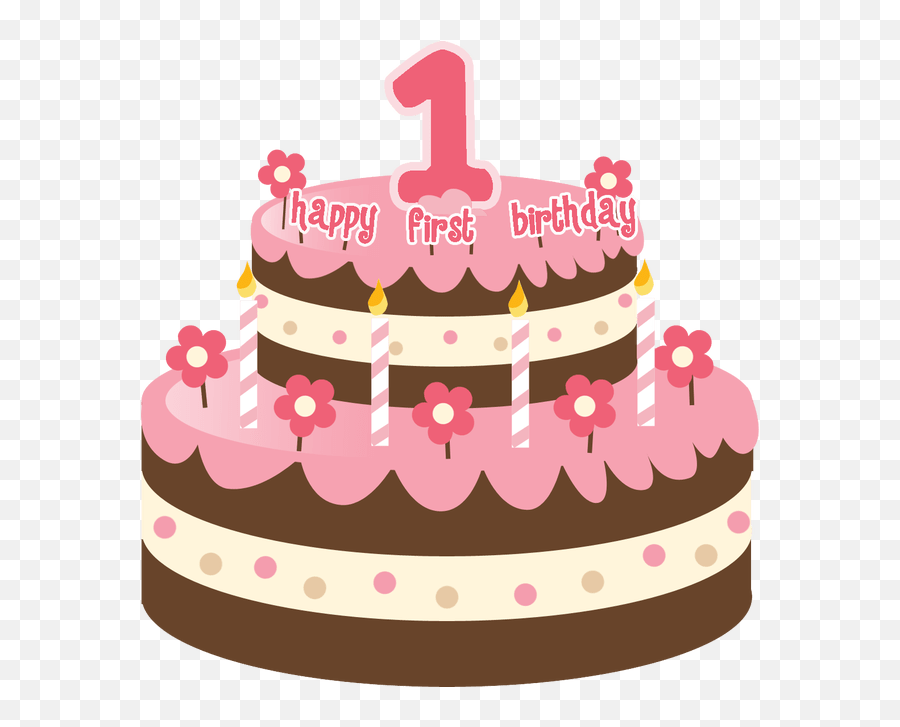 Pink Birthday Cake Transparent Png Clipart Free Download - 1 Birthday Cake Png Emoji,Emoji Birthday Cakes