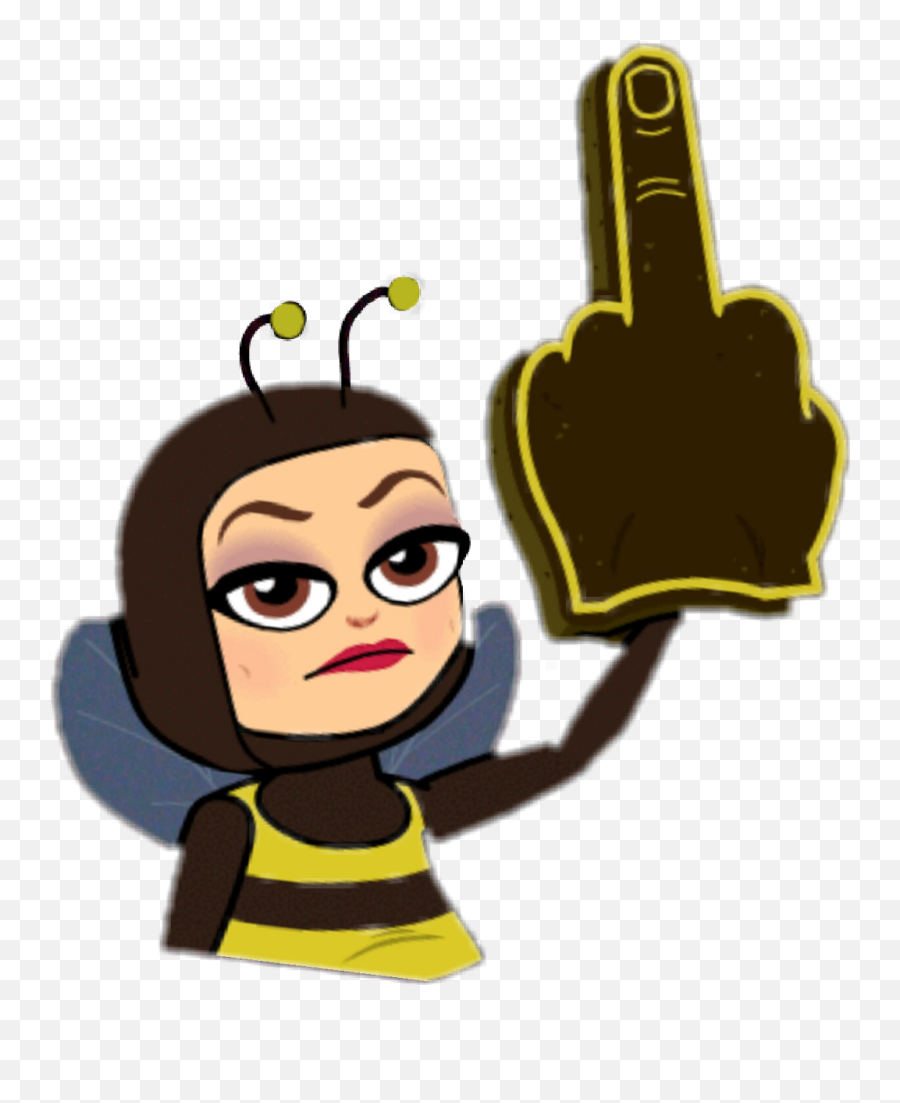 Finger Clipart Okay Finger Okay Transparent Free For - Bee With Middle Finger Emoji