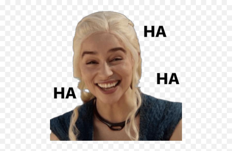 Stickerly - Emilia Clarke Laughing Got Emoji,Emoji Stickers For Facebook