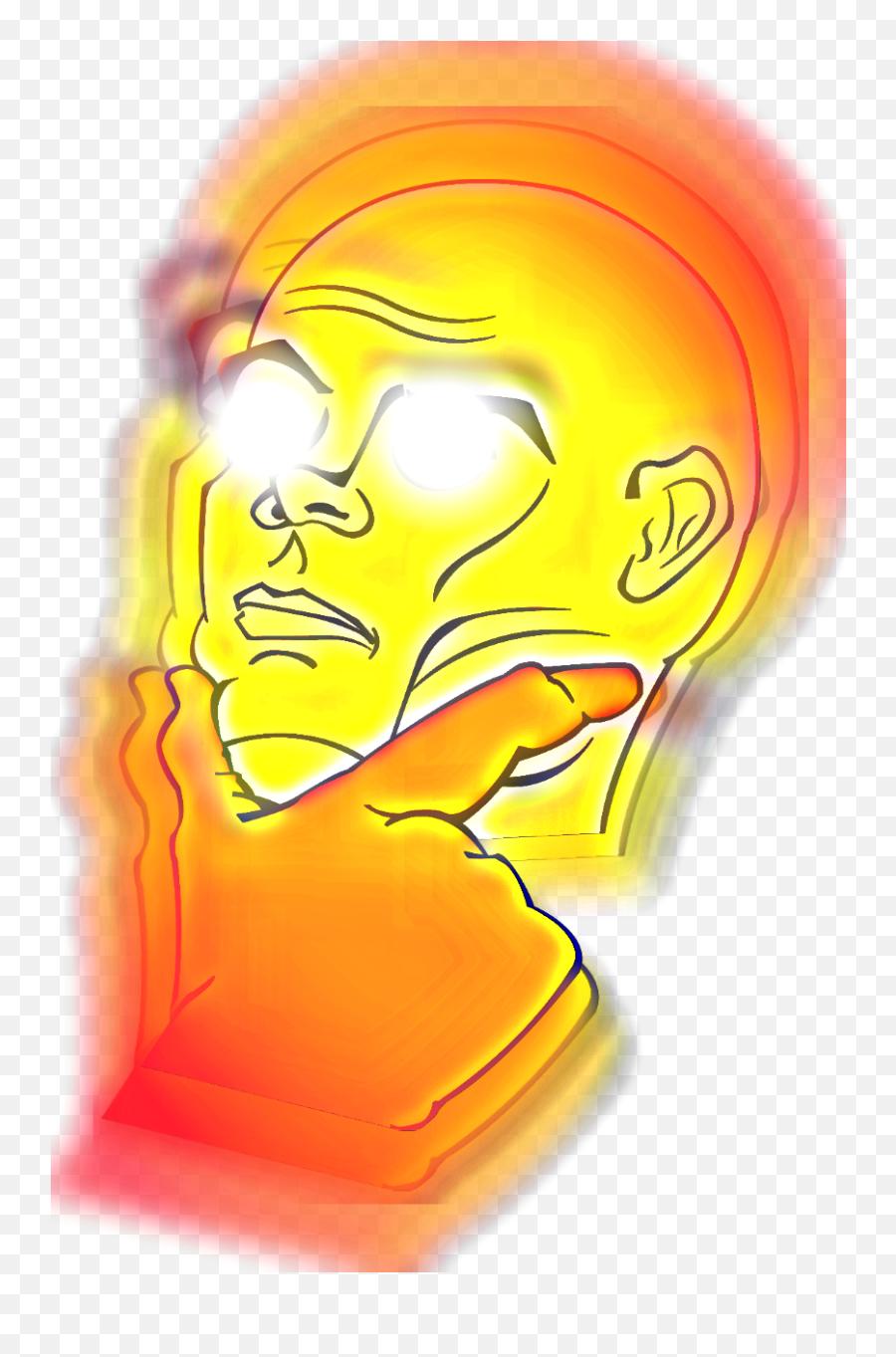 Hyper Real Think - Meme Emojis For Discord,Think Emoji Meme
