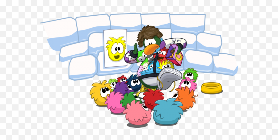 Club Penguin Wikichatlogs15 April 2013 Club Penguin - Club Penguin Surrounded By Puffles Emoji,Minion Emoticons For Iphone
