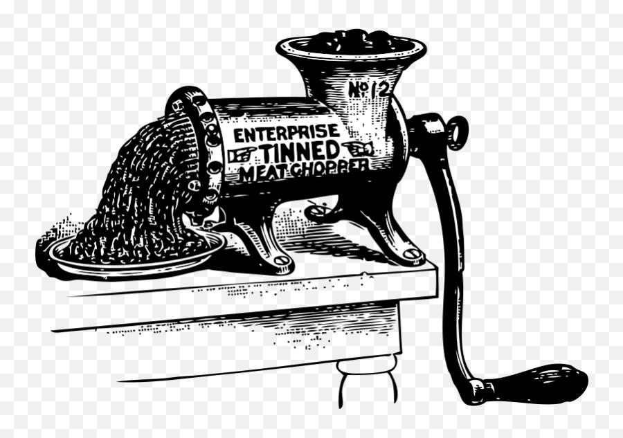 Download Vector - Growly Grin  Vectorpicker  Meat Grinder Vintage Illustration Emoji