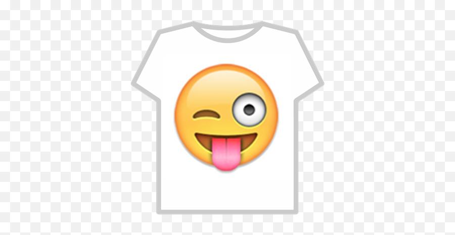 Funny Emoji - One Eye Open Tongue Out Emoji,Funny Emoji