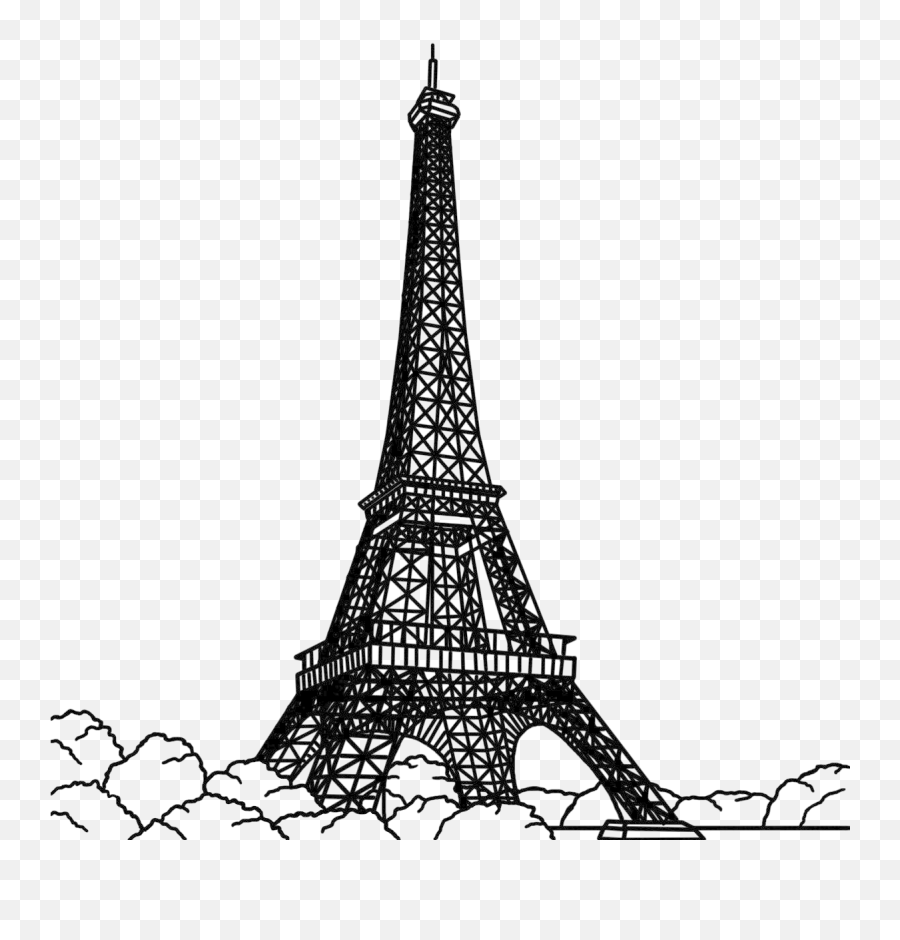 Drawing Image Clip Art Vector Graphics - Eiffel Tower Silhouette Png Emoji,Is There An Eiffel Tower Emoji
