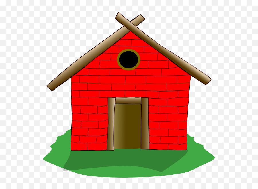 Red Brick House Clipart Danaspdg Top - Brick House Clipart Emoji