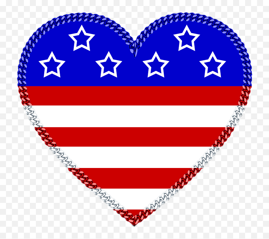 Red White And Blue Heart Clipart - Wallpaper Emoji