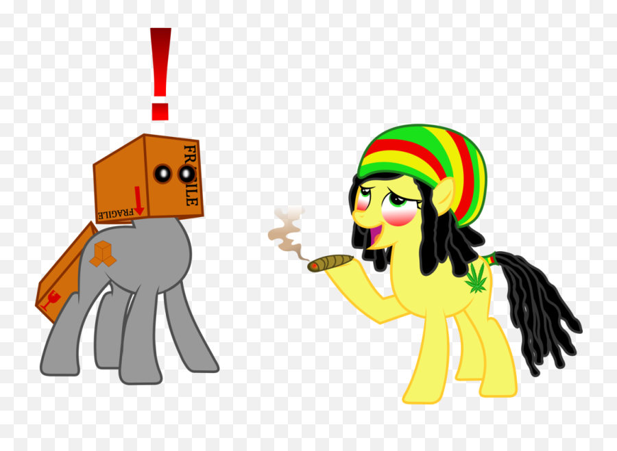 Smoking Weed Clipart Png - My Little Pony Doing Weed Emoji