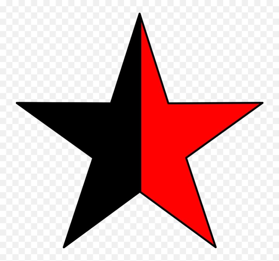 Download Free Png Anarcho - Communism Dlpngcom Black And Red Star Png Emoji,Anarchy Emoji