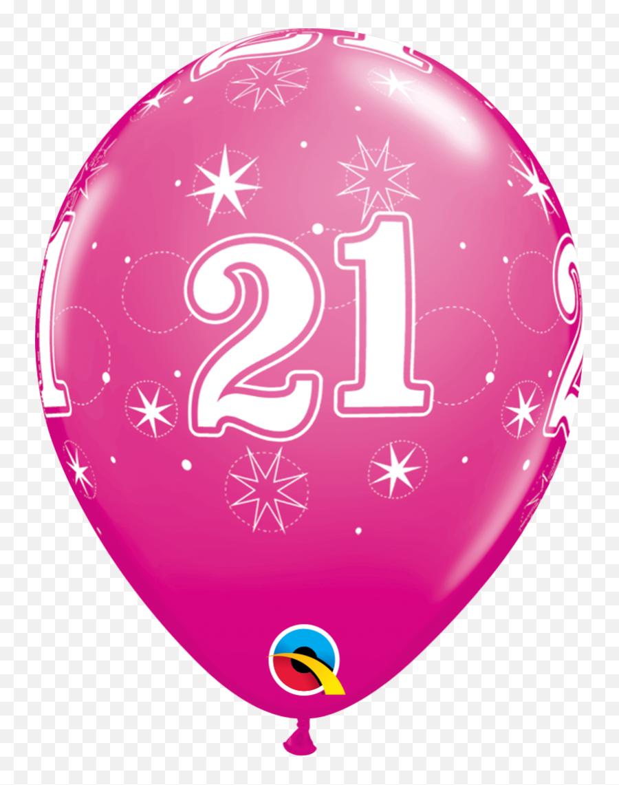 Wild Berry 21st Birthday Latex Balloons - 40 Birthday Png Emoji