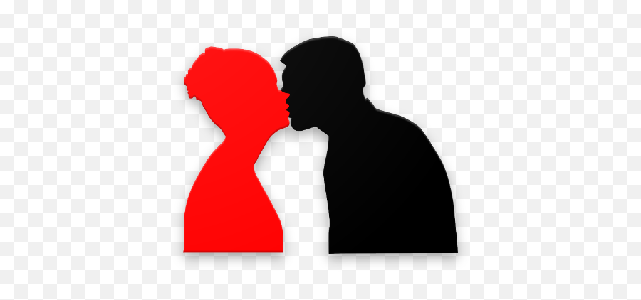 Lip Lock Kiss Emoji Gif - Silhouette