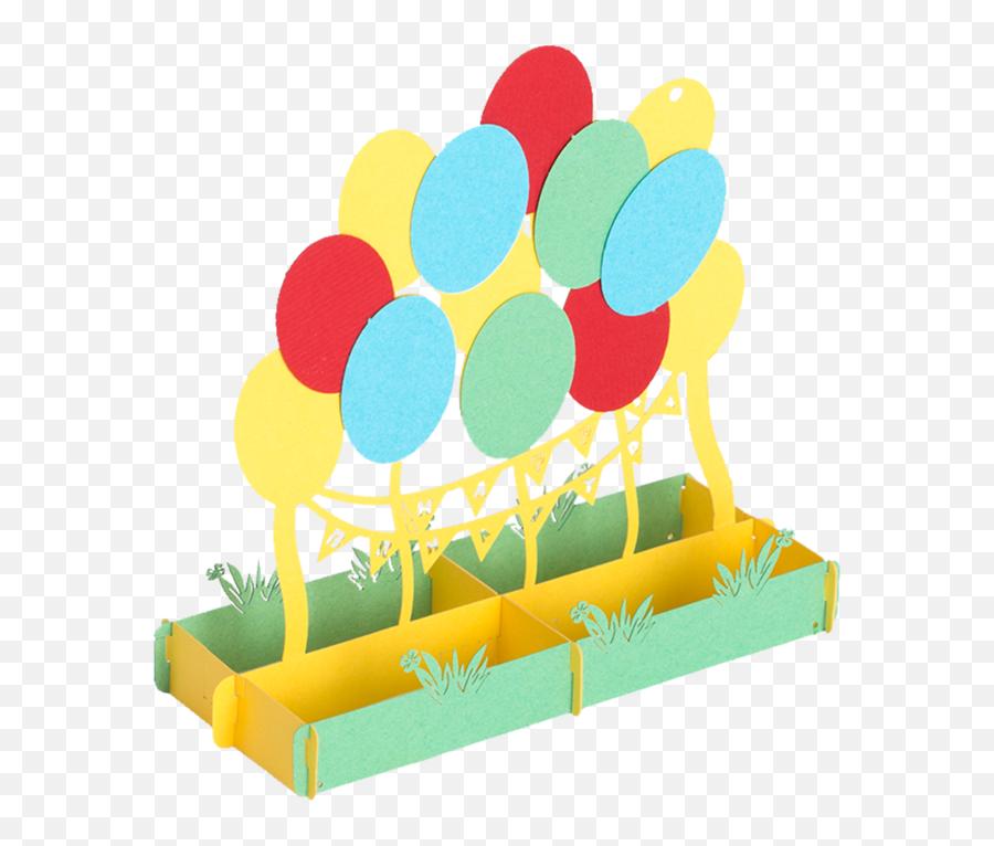 Happy Birthday Balloons Pop Up Card - Lawn Game Emoji