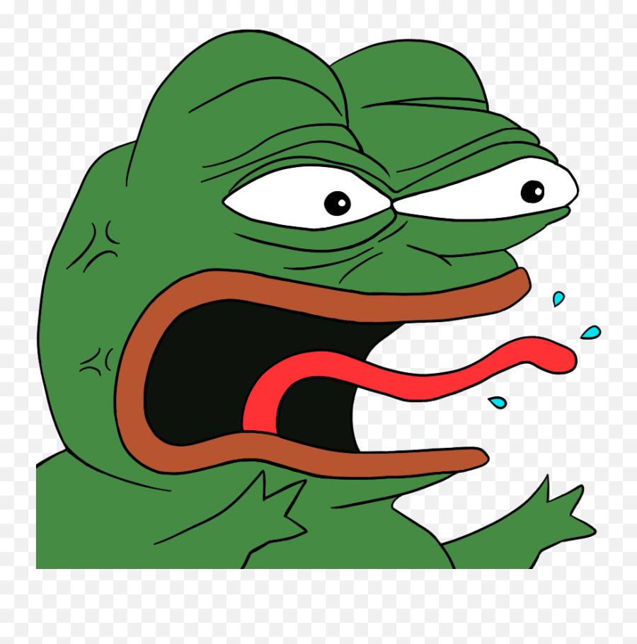 Pepe Vector Rage Transparent Png - Pepe Discord Emoji