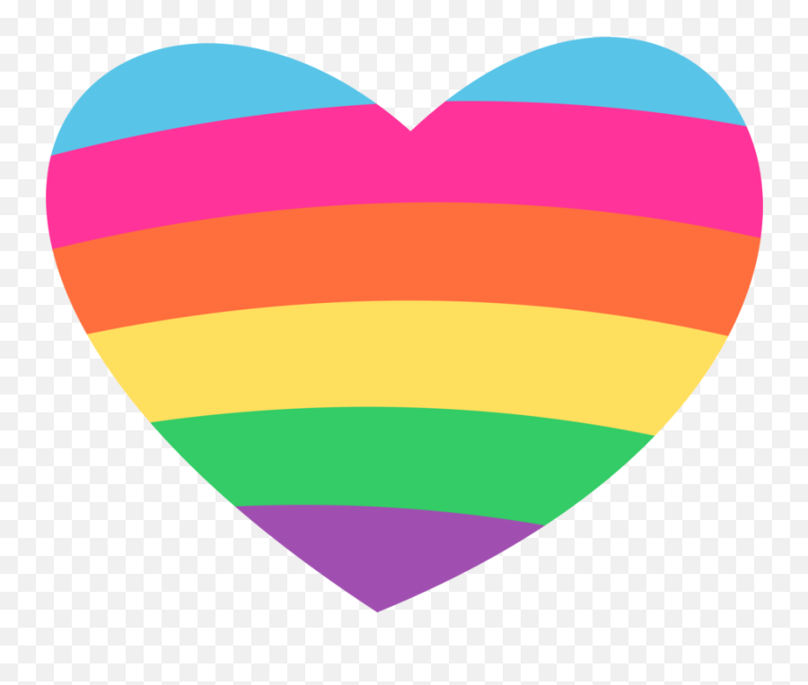 Hearts - Rainbow Love Heart Clipart Emoji