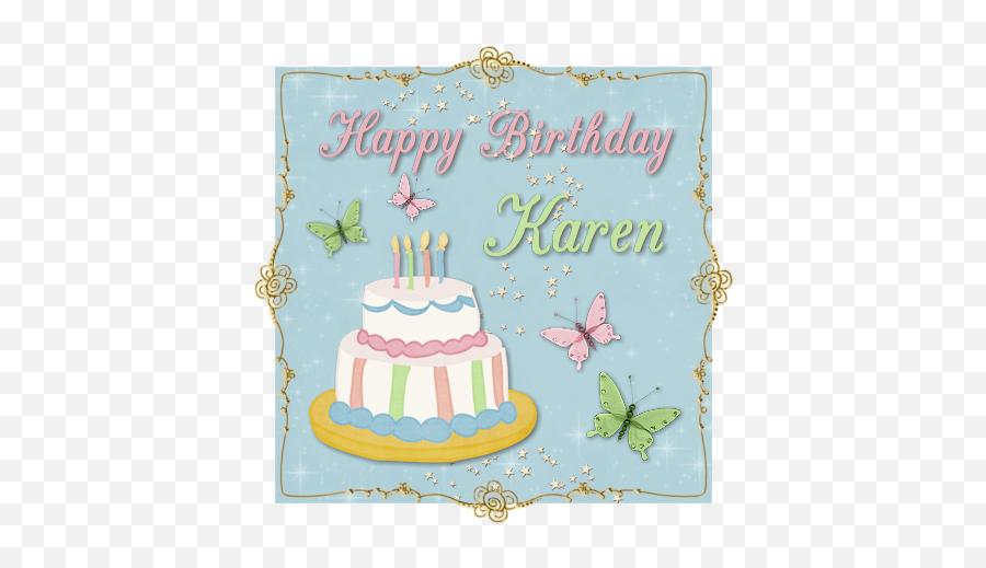 Happy Birthday Karen Clipart - Birthday Wishes Happy Birthday Karen Emoji