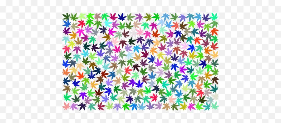 Prismatic Marijuana Background - Fondos De Hojas De Marihuana Emoji