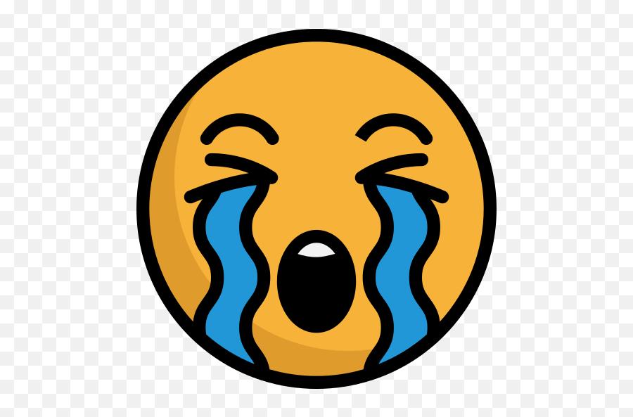 Crying Emoji Png Icon - Crying Icon Png,Crying Emoji Png