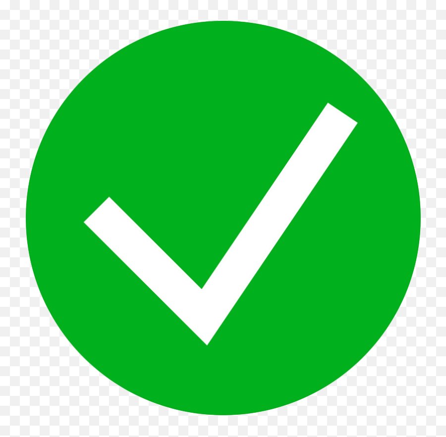 Green Tick Check Mark Icon Simple Style - Icon Green Tick Png Emoji