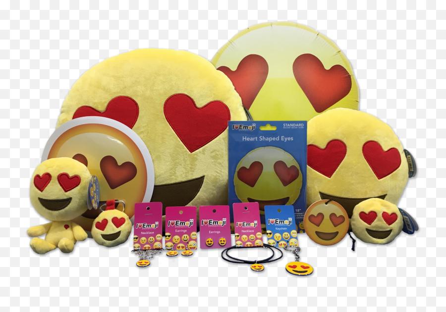 Download Hd Emoji Yellow Heart Eyes Bundle - Heart