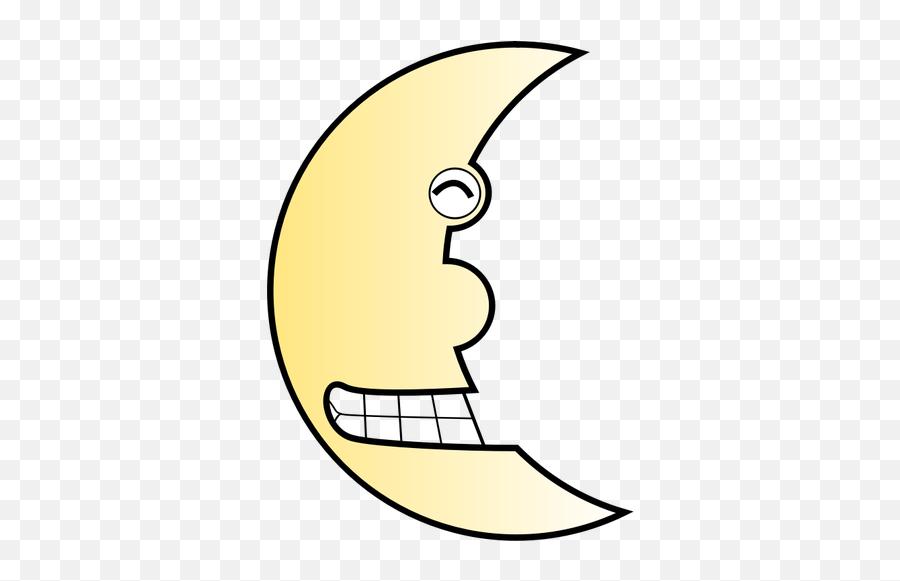 Vector Image Of Smiling Half Moon - Portable Network Graphics Emoji,Grit Teeth Emoji