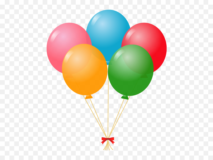 Birthday Balloons - Balon Clipart Emoji