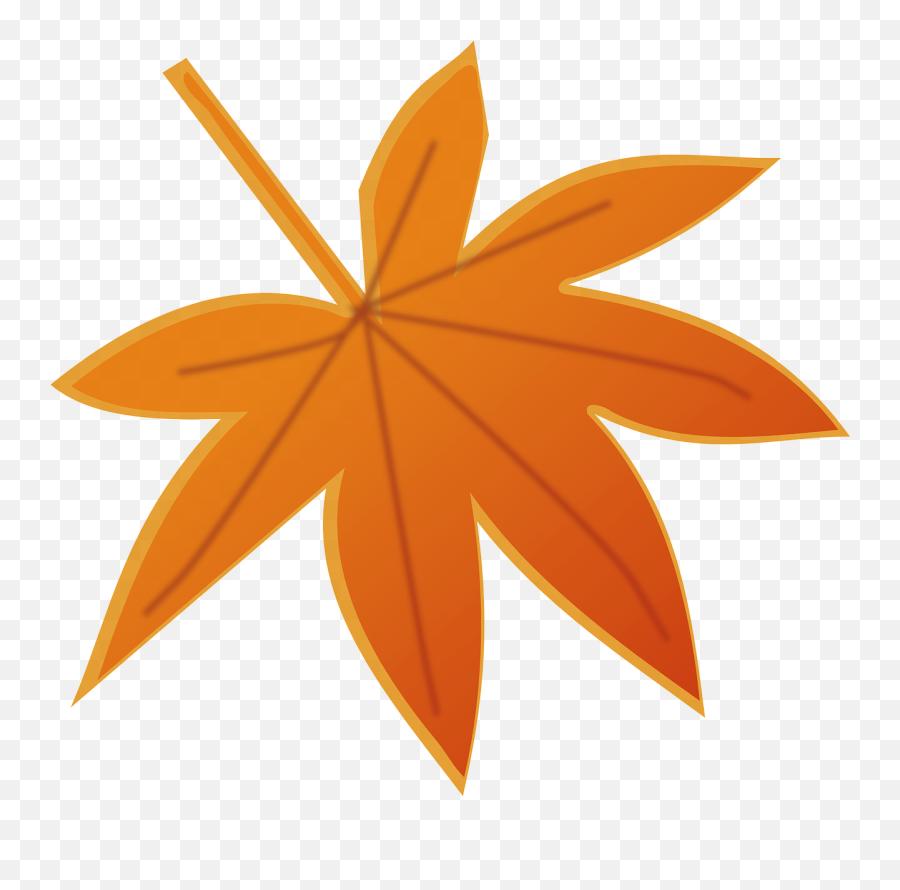 Marihuana Autumn Fall Leaf Orange - Cartoon Autumn Leaf Transparent Background Emoji