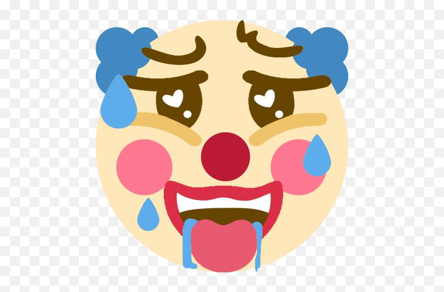 One Time I Made A Ahegao Clown Emoji For A Discord Server - Cursed Emojis Clown