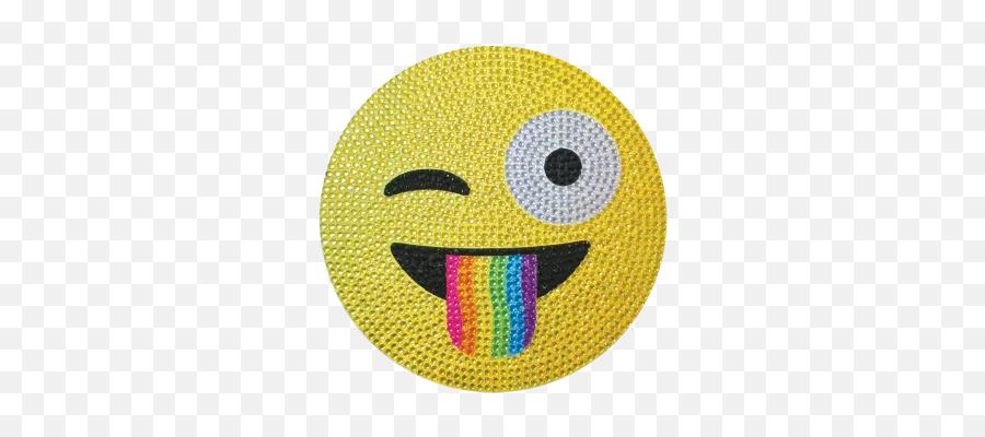 Official Emoji Gifts - Crazy Face Emoji Rhinestone Decals