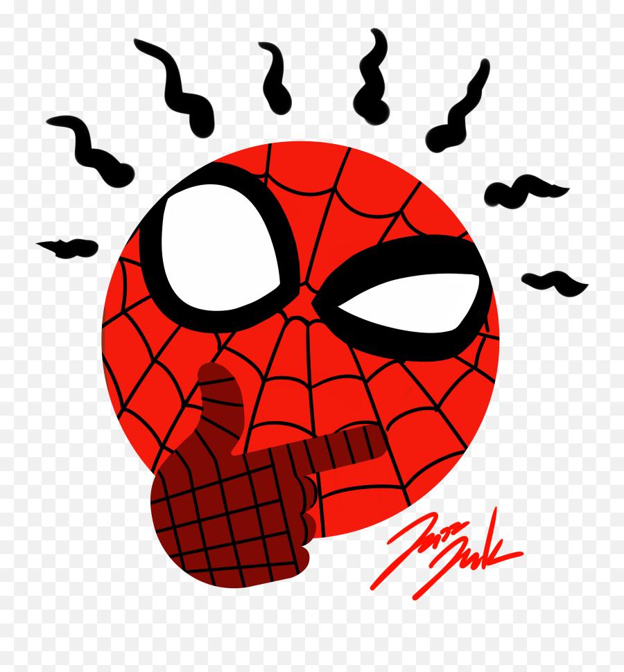 Spider Sense Thinking Face Emoji - Spiderman Thinking Emoji