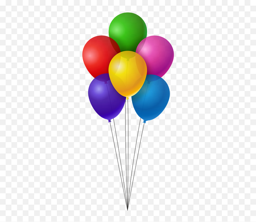 Balloons Colorful Birthday - Balloon Birthday Png Emoji