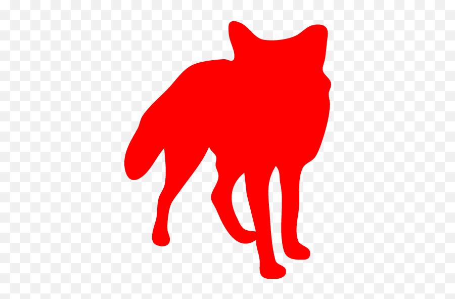 Red Fox Icon - Arctic Fox Silhouette Png Emoji,Fox Emoticon