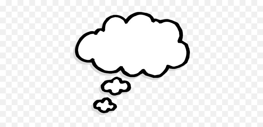 Blueman Thinking Clip Art Clipartcow 2 - Thought Bubble Clipart Emoji
