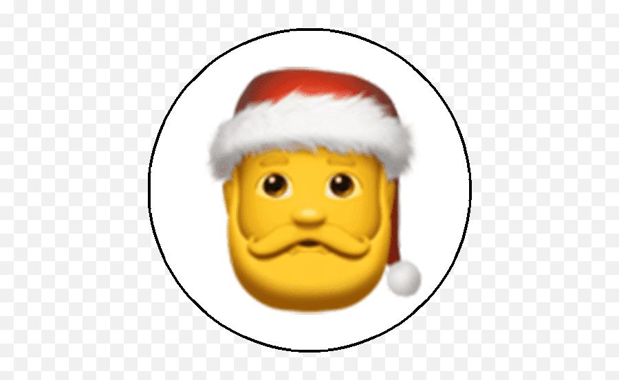 Nolex Santa - Gender Neutral Santa Emoji,Santa Emoticon