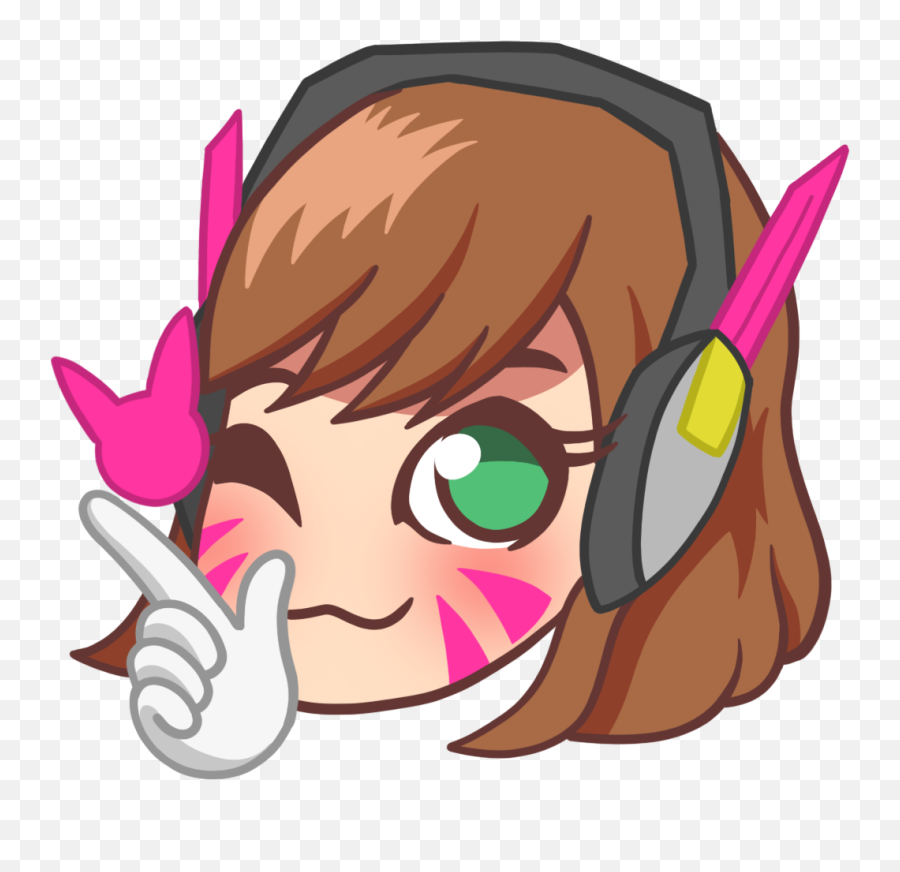 Transparent Emotes Dva Transparent Png Clipart Free - Overwatch Twitch Emotes Png Emoji