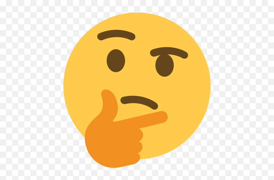 Thinking Emoji Blank Template - Emoji Thinking