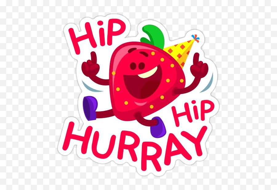 Happy Birthday Stickers Facebook Copy Paste Stickers - Hip Hip Hurray Cartoon Emoji