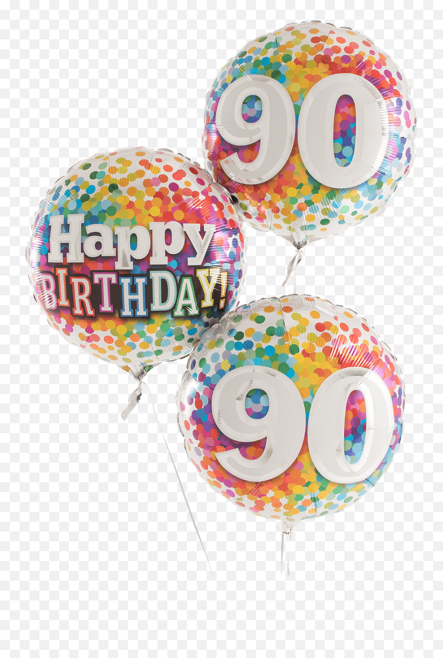 Party Supplies party shop uk 90th Happy Birthday Blue Filled - Transparent 70th Birthday Balloons Emoji