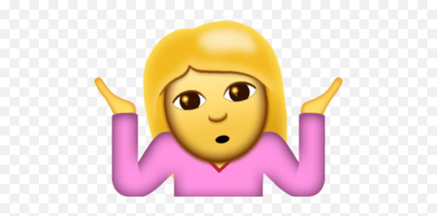 The Shrug Emoticon Gets The Emoji Treatment In Ios - Emoji Duda