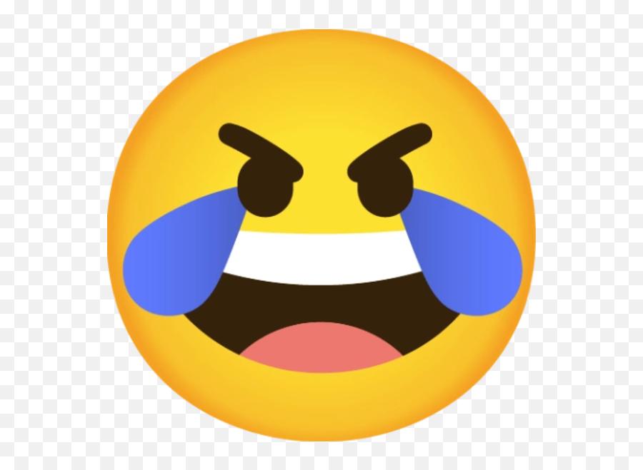 Open Eye Crying Laughing Emoji - Emoticon,Laughing Emoji