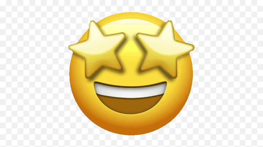 Pin On Emojis Grifis - Apple Star Eyes Emoji Png,Happy Cry Emoticon