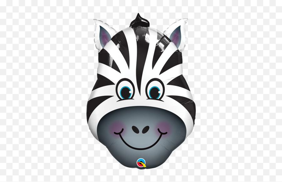 Greetings House - Zebra Face In Foil Balloon Emoji,Zany Emoji