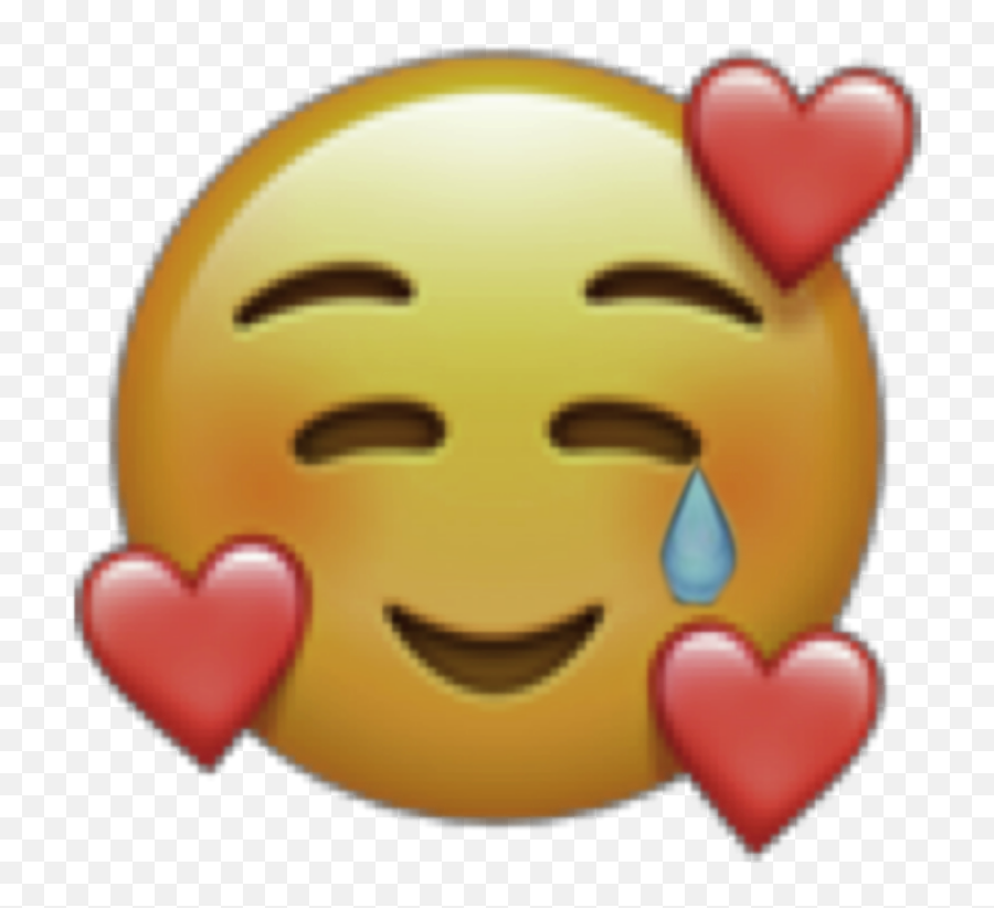 Tears Emoji Hearts Sticker By Soshoryy - Emojis Do Iphone,Tears Emoji