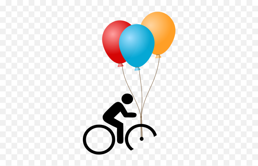 Bicycle With Balloons - Balloons Gif Transparent Background Emoji